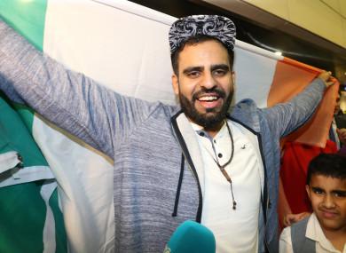 Halawa was met by a huge media presence at Dublin Airport last week.