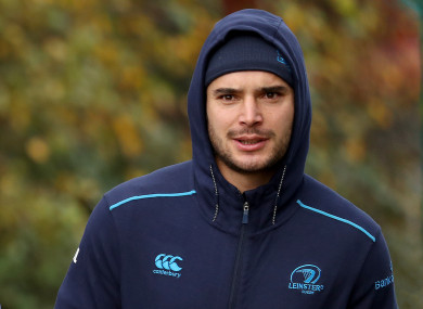James Lowe at Leinster squad training yesterday.