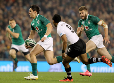 Carbery was superb in attack during Ireland's win over Fiji.