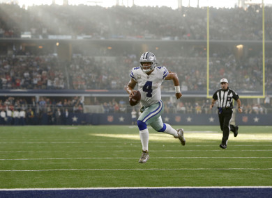 Dak Prescott will hope to continue his good form this week.
