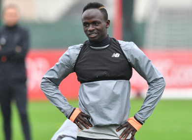 Mane is back in full training at Melwood.