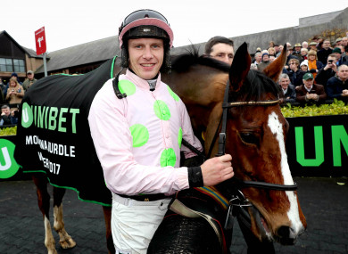 Jockey Paul Townend celebrates with Faugheen.