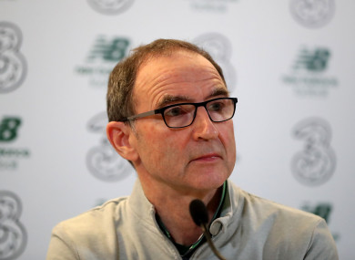 O'Neill during his post-match press conference.