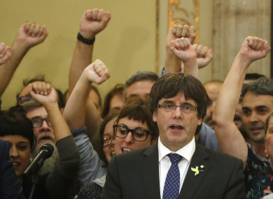 Puigdemont said a fair and impartial process for himself and his colleagues is unlikely in Spain.