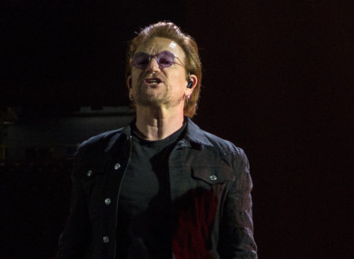 U2 during his band's Josua Tree 2017 tour.