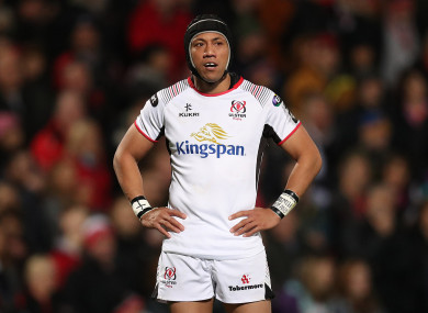 Lealiifano captains Ulster tomorrow evening.