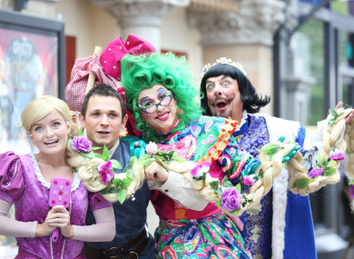 Stars of Rapunzel, this year's panto at the Gaiety Theatre in Dublin.