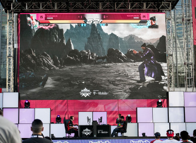 A Tekken 7 tournament at the Twitch ESports Arena during the Electronic Entertainment Expo (E3) in Los Angeles this year.