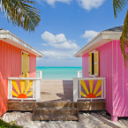 Colorful beachside buildings have reopened on many Caribbean islands, including Turks and Caicos.<span class=