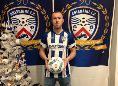 Dooley in the Coleraine shirt.