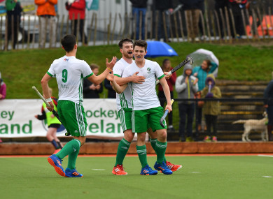 Walker celebrates his first Ireland goal against Ukraine last March.