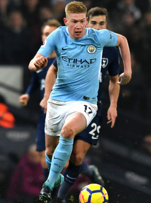 De Bruyne was sublime again yesterday.