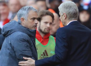Jose Mourinho and Arsene Wenger.
