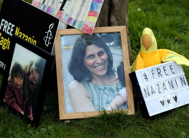 A photo of Nazanin Zaghari-Ratcliffe, the British-Iranian mother who is imprisoned in Tehran.