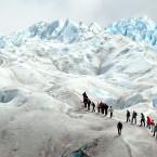 More than a hundred square miles of ice surround visitors on the Perito Moreno Glacier in Los GlaciaresNational Park.