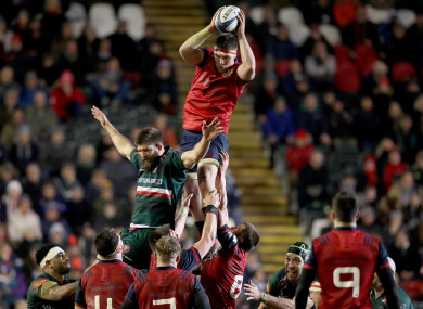 O'Mahony, named man of the match, stole three Leicester lineouts.