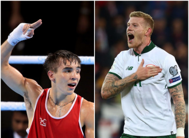 Boxer Michael Conlan (left-hand side) and soccer player James McClean (right).
