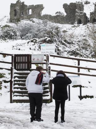 Snowy scenes in Co. Laois.
