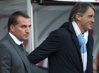 Brendan Rodgers and Roberto Mancini have met before.