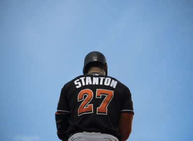 Stanton: the reigning National League MVP.