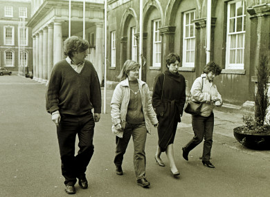 The Hayes family at the Tribunal in 1985