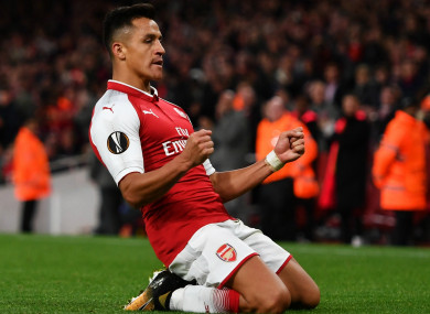 On the move: Arsenal forward Alexis Sanchez.