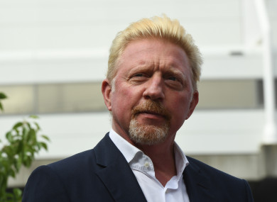 Boris Becker (file pic).