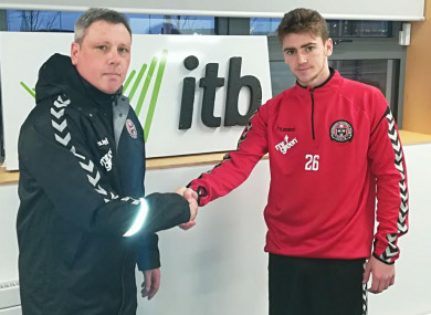 Bohs boss Keith Long with Watts.