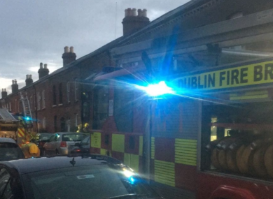 A number of units of the fire brigade attended the scene of the blaze early this morning.