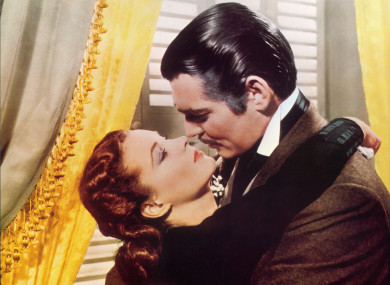 Clark Gable with Vivien Leigh in Gone With The Wind