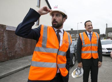 Housing Minister Eoghan Murphy alongside Taoiseach Leo Varadkar.