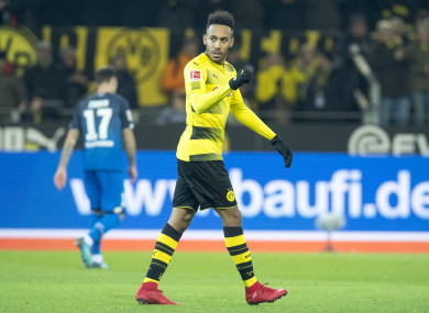 Aubameyang has been at Dortmund since 2013.