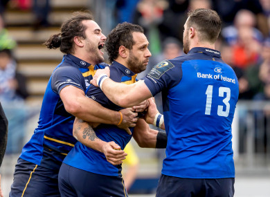 Nacewa scored twice as Leinster ran riot at the RDS.