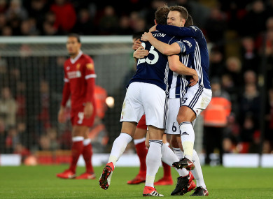 West Brom were full value for their victory at Anfield.