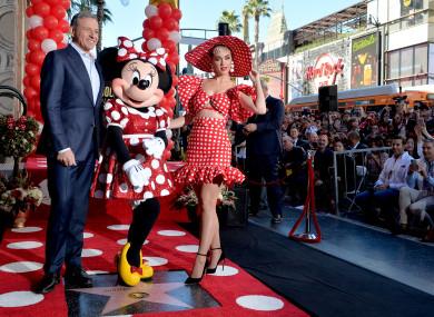 Disney CEO Bob Iger (left) announced the bonuses.