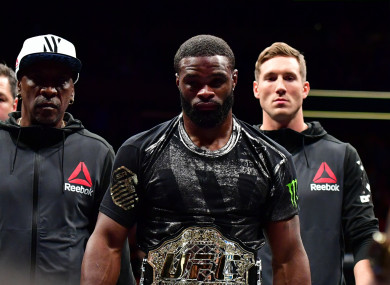 UFC welterweight champion Tyron Woodley.