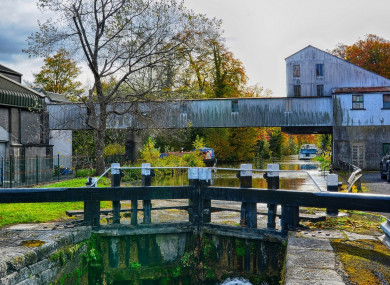 The former Odlums mill, towards Sallins on the canal