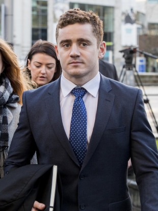 Paddy Jackson arriving at Belfast Crown Court yesterday