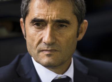 Ernesto Valverde (file pic).