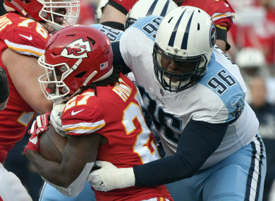 Kansas City hosted the first playoff game of the weekend.