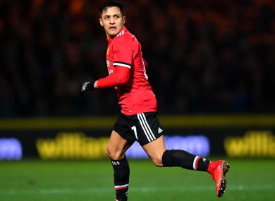 Manchester United attacker Alexis Sanchez.