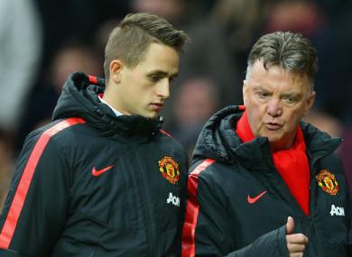 Adnan Januzaj struggled to make an impact under Louis van Gaal at Man United.