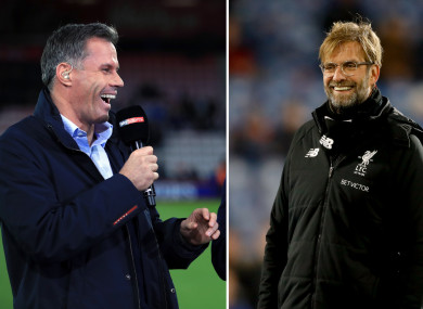 Carragher and Klopp.