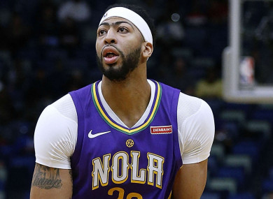 Anthony Davis didn't get a chance to play last night.