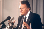 American evangelist Billy Graham pictured in 1982