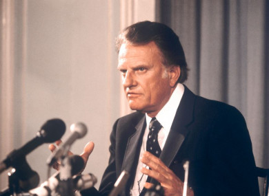 American evangelist Billy Graham pictured in 1982