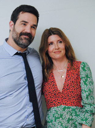 Delaney with Catastrophe co-star Sharon Horgan