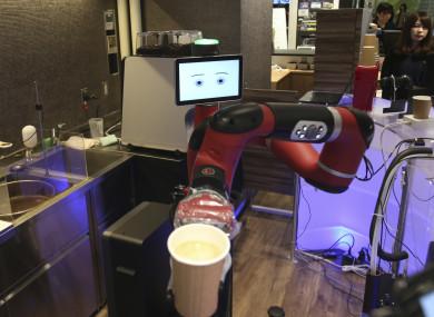 Robot barista named