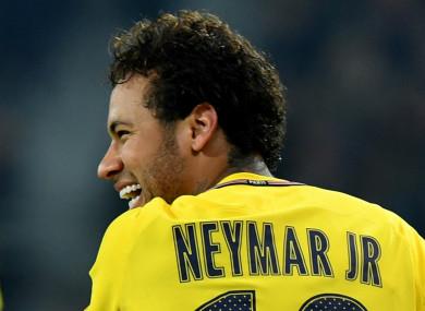 PSG star Neymar (file pic).