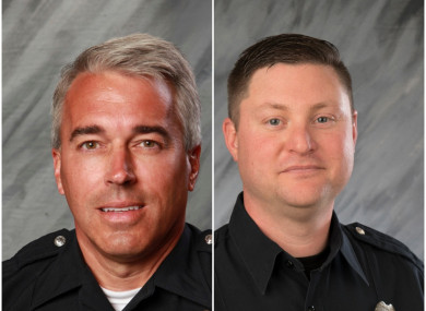 Anthony Morelli (left) and Eric Joering were fatally shot in the incident.
